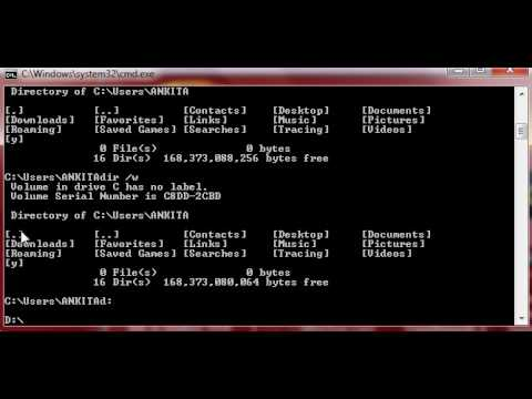 How to Print Directories Width wise in MS DOS