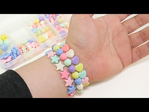 DIY How to Make Colorful Beads Bracelet for Kid