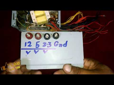 convert atx power supply to make car battery charger 12 V DC 11Amp
