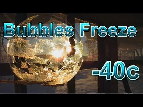 Frozen Bubbles Freeze at -40c