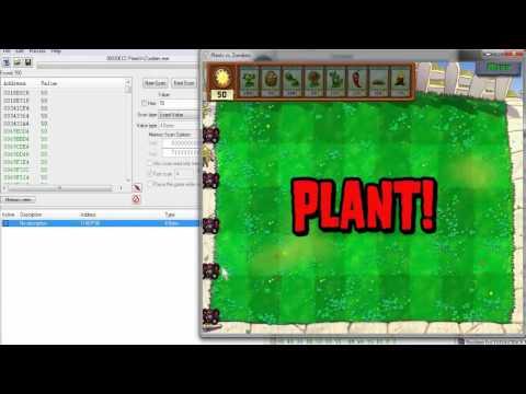 Plants vs Zombies - Cheat Engine - Infinite Sun and Respaw