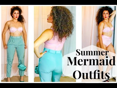 Pink and Green Outfits   How To Be A Real Life Mermaid   Wearable Mermaid Style