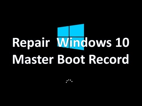 How Reset and Repair Windows 10 Master Boot Record