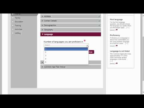 Common Application walkthrough part 2: Profile