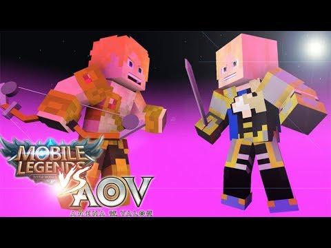 MOBILE LEGEND VS AoV - ANIMASI MINECRAFT