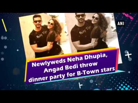 Newlyweds Neha Dhupia, Angad Bedi throw dinner party for B-Town stars