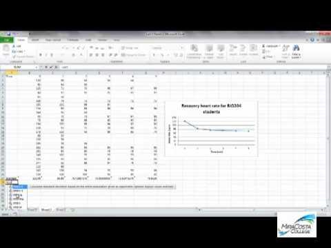 Adding Standard Deviation Error Bars to Line Plot Excel 2012 BIO204