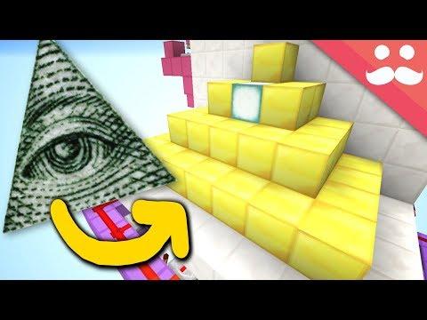 Making a GIANT ILLUMINATI PYRAMID DOOR in Minecraft!