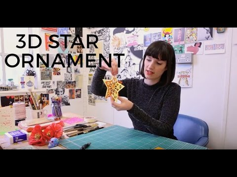 How to make a 3D star ornament | Poppy's Papercuts