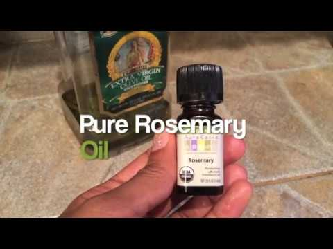 EASY NATURAL DIY ROSEMARY INFUSED HAIR OIL TUTORIAL | itsmeladyg