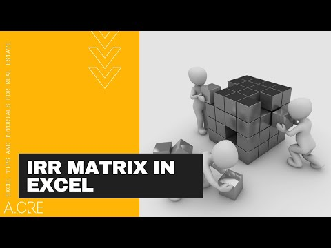 Build an IRR Matrix for Real Estate in Excel
