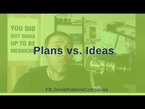 FB Live Repost: Plans vs. Ideas --- Which do you have and work on daily?