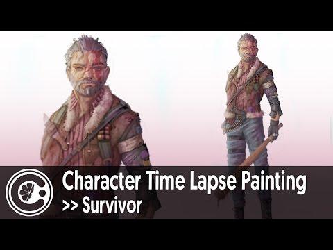 Character Time Lapse Painting | Survivor