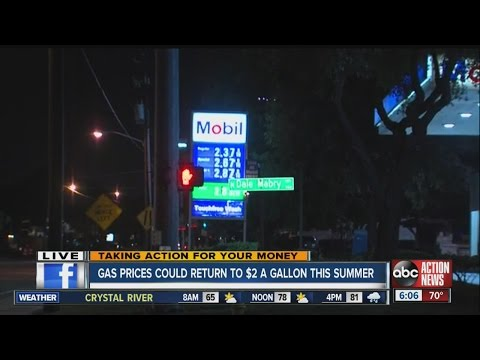 AAA Auto Club predicts that gas prices will drop to $2.00 per gallon