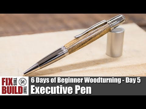 How to Make an Executive Pen | 6 Days of Beginner Woodturning Projects Day 5