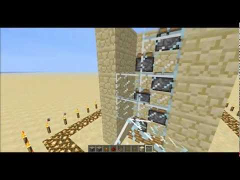 Minecraft Piston Elevator Up and Down Tutorial + Download HD