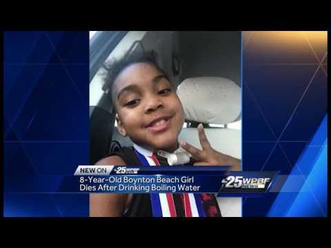 Boynton Beach girl dies after drinking boiling hot water
