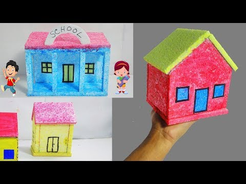 3 Small Thermocol House Idea For School Project (DIY)