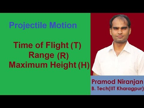 2. Physics | Class 11 | Projectile Motion | Time of Flight, Range, Max. Height