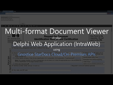 How to display PDF and Office documents in your Delphi Web Application (IntraWeb) using StarDocs
