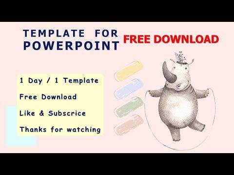 Cartoon cute little animal  | Template Powerpoint free download