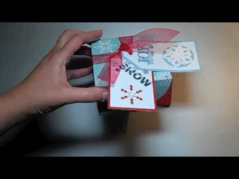 Cricut Small Christmas Boxes using Joys of the Season cartridge