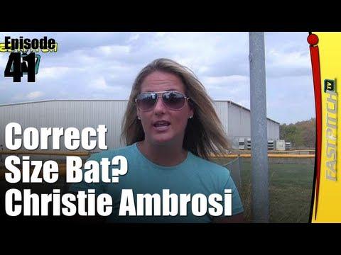 Softball Drills & Tips: Correct Size Softball Bat   Fastpitch TV