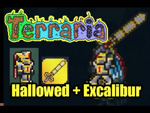 Hallowed Armor plus Excalibur Easy | Terraria Armor and Weapons