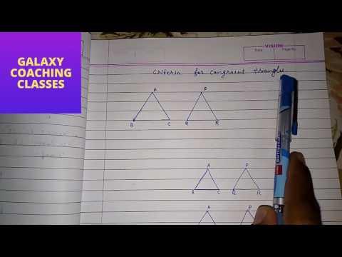 congruent triangles, ll congruence ll SAS, ASA, SSS, RHS, AAS, ll cbse class 9 triangles