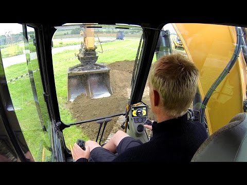 New Case CX210C Excavator Test Drive: Cab View