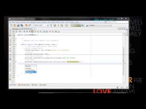 How To Set Jframe close event in java swing programing for beginners