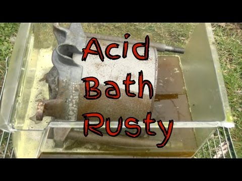 Muriatic Acid Best Rust Remover Time Lapse Cleaning Rusty Steel Press Restoration Like 2017 Video