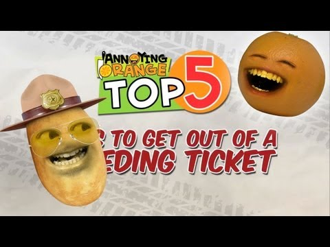 Annoying Orange - Top 5 Ways To Get Out Of A Speeding Ticket