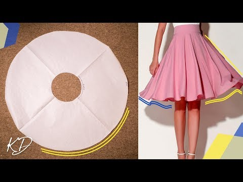 HOW TO: MAKE FULL CIRCLE SKIRT PATTERN | KIM DAVE