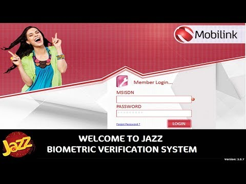 How To install Mobilink Jazz Biometric Sim Sale Verification System in Pakistan