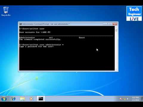 Reset Admin Password via Command Prompt in Windows OS