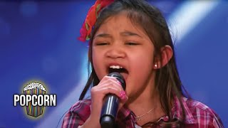 America's Got Talent 2017 Angelica Hale 9 Year Old Stuns Simon & The Crowd Full Audition S12E02