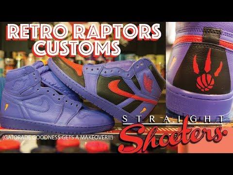 TORONTO RAPTORS RETRO CUSTOM SNEAKERS