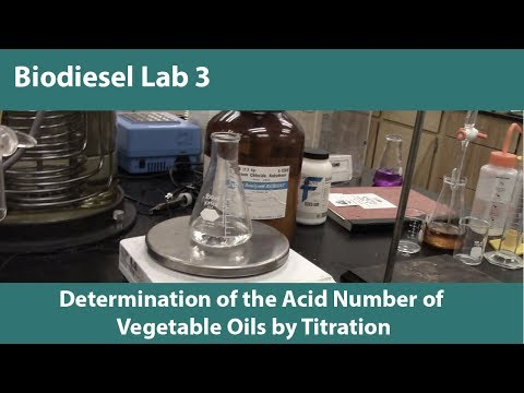 Lab 3-Determination of the Acid Number of Vegetable Oils by Titration