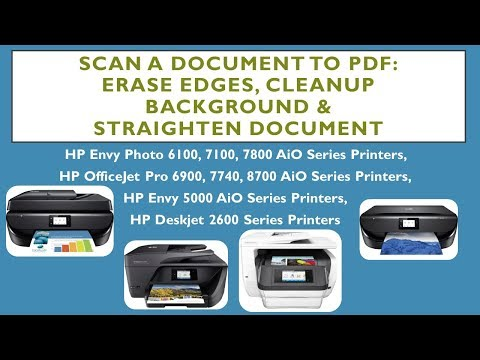 HP Envy Photo 7855: Scan a document to PDF with enhancements