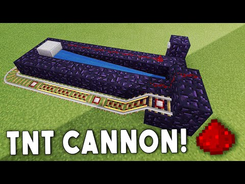 TNT CANNON - Minecraft Redstone Tutorial