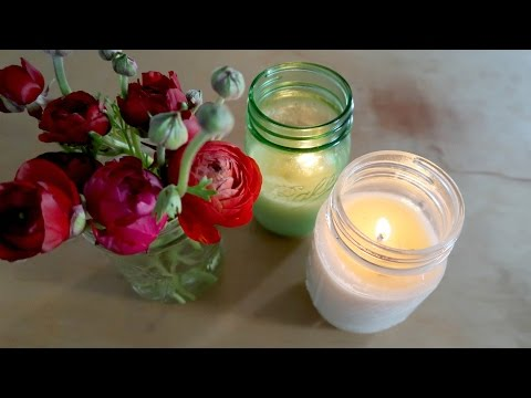 DIY candles at home (ALL NATURAL & NON TOXIC)