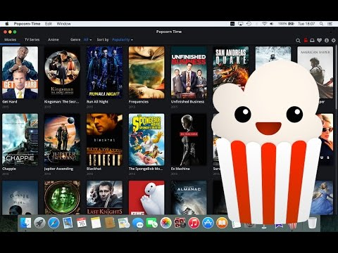 Popcorn Time (Mac) Install and Quick Look - Free Movies