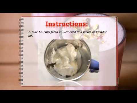 rose lassi recipe, how to make rose lassi recipe  lassi recipes
