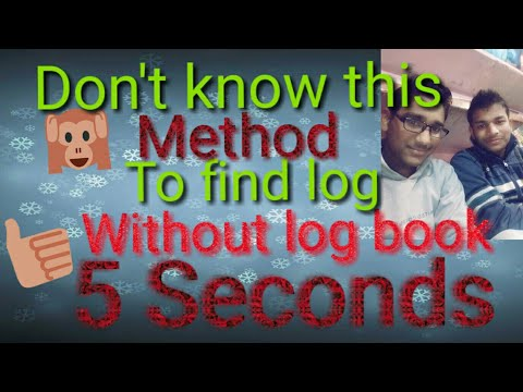 find log    Without using log Book    In5 seconds   hindi and english animation.  