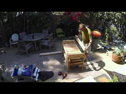 Building a Mini Farm Box Table Garden