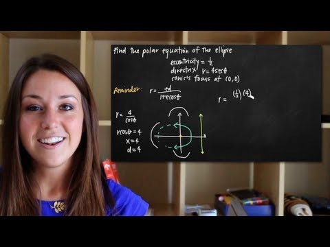 Polar equation of the ellipse (conic section) (KristaKingMath)