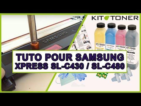 Recharge toner pour les toners Samsung XPRESS SL-C430 et SL-C480