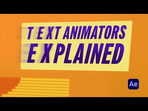 Text Animators in After Effects
