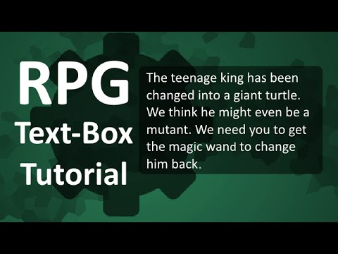 Game Maker Tutorial: RPG Text Box Example